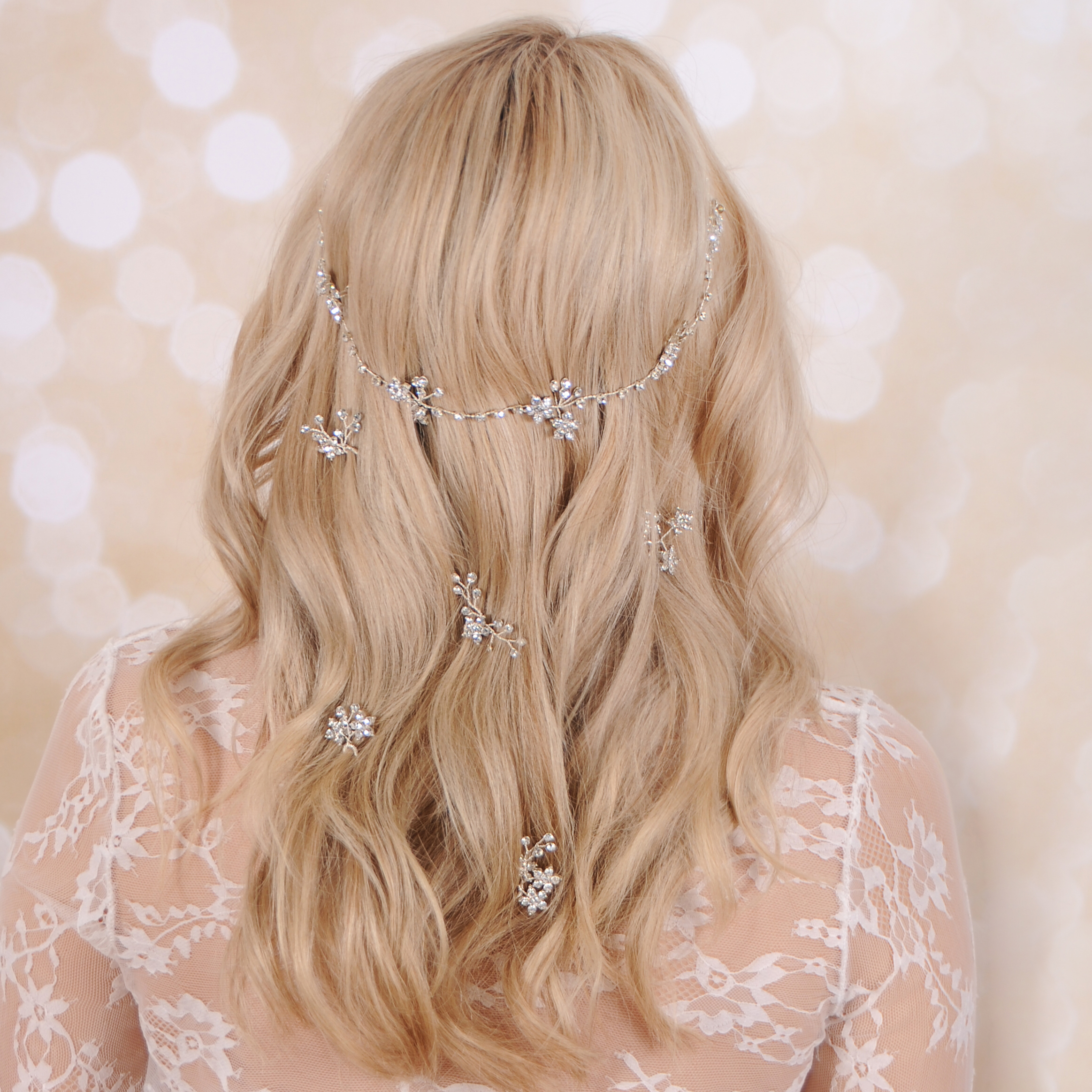 GYPSOPHILA hair vine and pin set